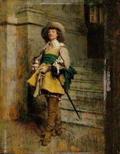 A Cavalier: Time of Louis XIII by  Jean Louis Ernest Meissonier (1815–1891)