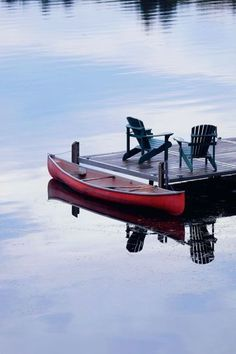 i think summer and i would get along just fine if i had these chairs on the dock + canoe everyday...