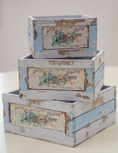 Flower Market French Crate / Rustic French by ThePlumberryShop, $16.00