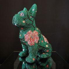 FRENCH BRUNO (@french_bruno_by_j_leitner) • Instagram-Fotos und -Videos Mosaic Art, Dinosaur Stuffed Animal, French, Animals, Instagram, Videos, Pink, Crystals, Handmade