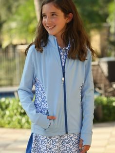 Check out what Loris Golf Shoppe has for your days on and off the golf course! Turtles & Tees Junior Girls Golf/Tennis Bridget Full Zip Jackets - Powder Blue