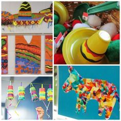 Celebrate Cinco de Mayo with kids! Great collection of crafts and snacks that you can make with your toddler, preschooler, kindergartner, or elementary aged child to help them learn about Mexico and Mexican culture. Toddler Crafts, Crafts For Kids, Arts And Crafts, Mexico For Kids, Mexico Crafts, Disney Dinner, Culture Day, Auction Projects, Art Projects