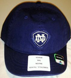 VINTAGE 2007 NOTRE DAME FIGHTING IRISH WOMENS ADIDAS BUCKLE BACK CAP HAT NWT #Reebok #NotreDame