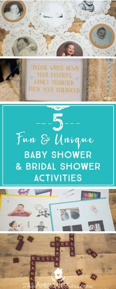 The original scavenger hunt baby shower game baby for Non traditional bridal shower games