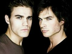 The Salvatore Brothers from 'The Vampire Diaries'! Okay, these guys might not be old school vamps, but they're certainly worth a mention! They're broody, sexy, and yes, they actually kill people, unlike many of these teen vamps. Of course I have a favourite (Damon - but then I doubt I'm alone in that respect!) but they're both pretty easy on the eye!