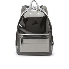 Maison Margiela Backpack ($1,390) ❤ liked on Polyvore featuring bags, backpacks, transparent, pocket bag, clear bags, clear transparent bag, vinyl backpack and transparent bag