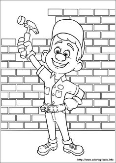 Wreck-It Ralph coloring picture