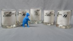Set of 5 Vintage BC Comic Strip Glasses Bar by SlyfieldandSime, $21.00