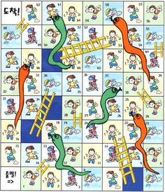 "Snake and Ladder    ""Can you       ?"" 를 사용하여 하는 주사위 말판게임으로 ""Can""의 사용을 도울 수 있다."