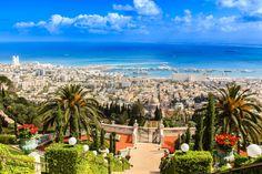 der Ausblick über Haifa