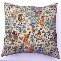 Alice in Wonderland Charles Voysey cushion pillow by Alien Couture vintage…