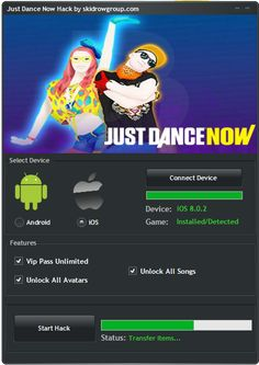 ust Dance Now Hack (Unlocked) You Can Download Just Dance Now Hack Here : http://fileml.com/file/0X557u Get Unlimited VIP Codes And Share With Your Friends ! Simply Just Connect On www.justdancenow.com And You'r Ready To Play !  Just DAnce Now Hack VIP VIP HACk For just dance now android , ios  free vip hack justdancenow