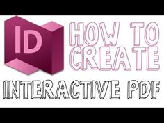 In this tutorial I show you how to create an interactive PDF within Adobe Indesign CC. An interactive PDF is one that can be interacted with by the user. Graphisches Design, Graphic Design Tutorials, Design Websites, Design Trends, Adobe Indesign, Photoshop Design, Photoshop Tutorial, In Design Tutorial, Interactive Pdf Design