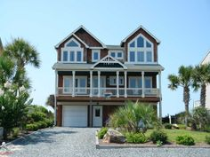 Holden Beach, NC - Beech To Beach 1311 a 5 Bedroom Oceanfront Rental House in Holden Beach, part of the Brunswick Beaches of North Carolina. Includes Elevator, Private Pool, Hot Tub, Hi-Speed Internet