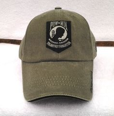 0fba80e9e51 POW MIA YOU ARE NOT FORGOTTEN Military Veteran STONE WASHED OD Hat 5591  MTEC. Military HatsMilitary ...