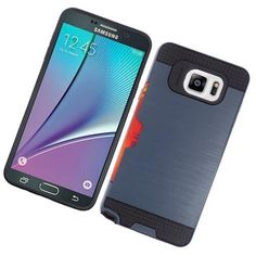 Samsung Galaxy Note 5 Blue Protective Case w/ Credit Card Holder