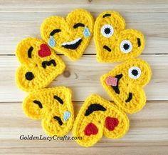 Crochet Emoji, Tears of Joy, Free Crochet Pattern, Valentines Crochet – GoldenLucyCrafts