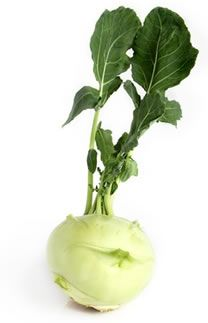 Kohlrabi: Peel, cut into rounds, dip in beaten eggs, then breadcrumbs, sautee in olive oil until tender.