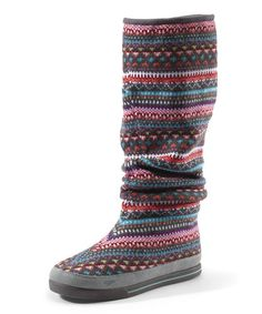 Another great find on #zulily! Red & Pink Knit Slouch Boot - Women #zulilyfinds