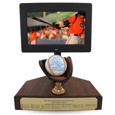 Baseball Softball Trophydisplay Which Includes A Digital Frame