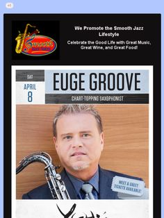 Euge Groove at Yoshi's Jazz Club, Oakland, CA on April 8, 2017.