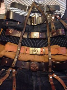 Denim , leather and brass the perfect threesome!!