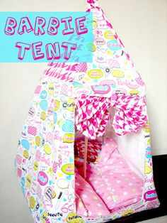 Barbie tent (and sleeping bag)  PATTERN.  via Etsy.
