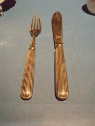 Fork and knife recovered from Titanic