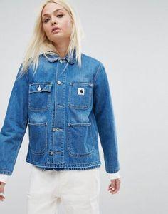 Carhartt WIP – Büro-Outfits – Jeansjacke mit unbearbeitetem Saum