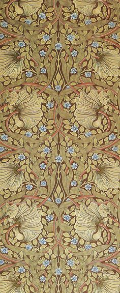 'Pimpernel' wallpaper design by William Morris, produced by Morris & Co in 1876