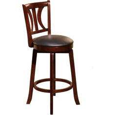 Houston 24'' Swivel Counter Height Stool, Multiple Colors, Brown