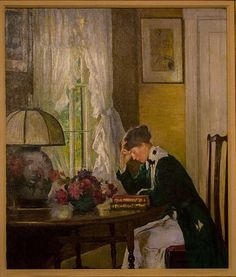 """The Letter,"" by Edmund Charles Tarbell"