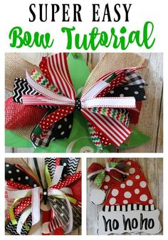 Super Easy Bow Tutorial by Re-FabbedHow to make a bow the SUPER DUPER easy way! This tutorial is literally so simple,yet the bows are simply gorgeous. Learn how to make your own bow today!Arts And Crafts Beer ParlorSuggestions that may help you Great Diy Ribbon, Ribbon Crafts, Ribbon Bows, Ribbons, Ribbon Flower, Ribbon Hair, Burlap Bows, Fabric Flowers, Craft Gifts