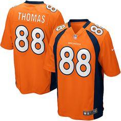 53679b86fc6 All Size Free Shipping Game Men's Nike Denver Broncos #88 Demaryius Thomas  Team Color Orange