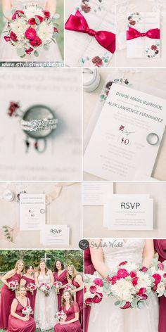 elegant burgundy flower wedding invitation with printed vellum paper wrap and ribbon SWPI081 #wedding#weddinginvitations#stylishwedd#stylishweddinvitations #vellumweddinginvitations