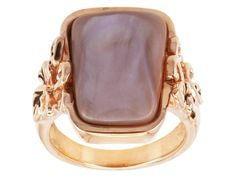 Timna Jewelry Collection(Tm) Pink Mother Of Pearl Copper Ring