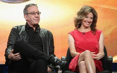 "Actor Tim Allen and Nancy Travis celebrated the Episode of ""Last Man Standing"" Nancy Travis, Tim Allen, Classy Men, Wonders Of The World, My Hair, Tv Shows, Sexy Women, It Cast"