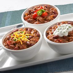 With the help of McCormick® Chili Seasoning, this chili is so quick and easy to prepare that you won't miss any of the big game.