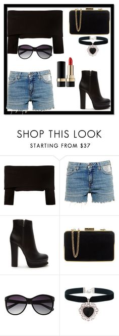 """Untitled #351"" by moniquedawson09123 ❤ liked on Polyvore featuring Dorothee Schumacher, Yves Saint Laurent, Forever 21, MICHAEL Michael Kors, Vince Camuto, Rock 'N Rose and Dolce&Gabbana"