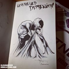 In artist Shawn Coss created a viral Inktober mental illness series. For he updated the drawings to continue the conversation on mental health. Arte Horror, Horror Art, Beat Depression, Depression Symptoms, Art Steampunk, Mental Illness Awareness, Mental Illness Tattoo, Psychedelic Art, Mental Health