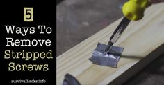 5 Ways To Remove Stripped Screws ►► http://off-grid.info/blog/5-ways-to-remove-stripped-screws/?i=p