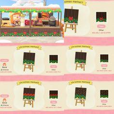 Christmas Market✨   stall designs QR : ACQR Christmas Market Stall, Motif Acnl, Ac New Leaf, Motifs Animal, Animal Crossing Game, Animal Fashion, Christmas Design, Cute Funny Animals, Disney