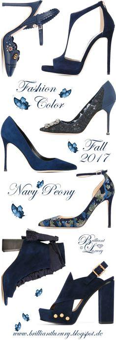 Brilliant Luxury by Emmy DE ♦ Fashion Color Fall 2017 ~ navy peony
