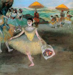 Dancer with a Bouquet Bowing - Edgar Degas   A favorite Degas