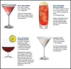 halloween vodka cocktails - Google Search