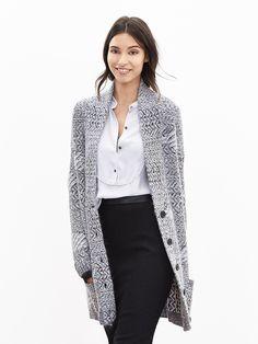 Banana Republic | Heritage Textured Long Sweater Cardigan