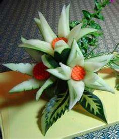 El arte del tallado de frutas y verduras - Bricolaje
