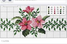 This Pin was discovered by Aur Cross Stitch Bookmarks, Cross Stitch Heart, Cross Stitch Borders, Cross Stitch Flowers, Cross Stitching, Cross Stitch Embroidery, Embroidery Patterns, Hand Embroidery, Funny Cross Stitch Patterns