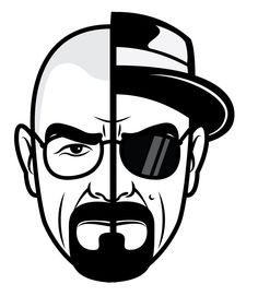 """2 - Breaking Bad Two Face Heisenberg Stickers - 5"""" Tall CMYK Die-Cut This sticker is 5 inch tall, CMYK printed and die-cut out of 5 year life vinyl. This is great for vehicles and all Breaking Bad fan"""