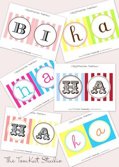 {New in the Shop} Custom Happy Birthday Banners & FREE Celebrate Banner! | The TomKat Studio